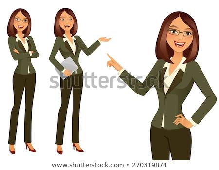 Negocios consulta trabajador documento vector carácter Foto stock © robuart