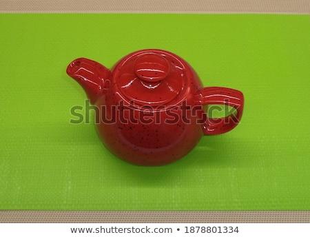 Théière thé céramique bouilloire isolé Photo stock © robuart