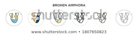 broken clay vase icon vector outline illustration Stock photo © pikepicture