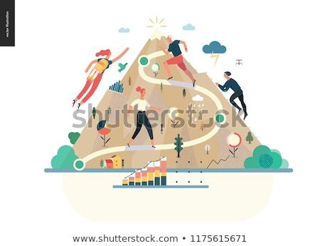 キャリア 登る ベクトル メタファー 野心的な ビジネスマン ストックフォト © RAStudio