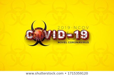 Coronavirus theme with human and virus cells in lungs Stock photo © bluering