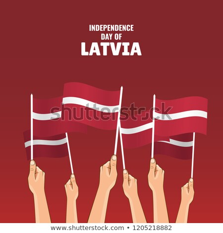 Латвия флаг стороны белый Мир знак Сток-фото © butenkow