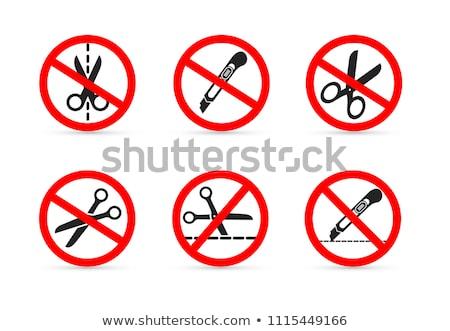 Niet gesneden Rood verboden teken witte Stockfoto © evgeny89