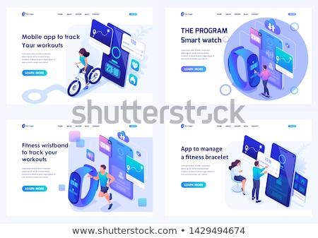 Digitális jólét leszállás oldal felhasználó számítógép Stock fotó © RAStudio