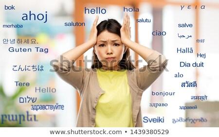 Asia mujer extranjero palabras traducción Foto stock © dolgachov