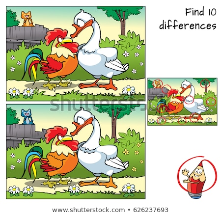guess animal characters educational game for children Stock photo © izakowski