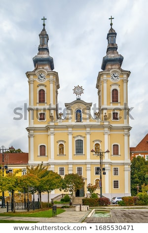 Kirche Annahme Ungarn Minderheit Barock Stil Stock foto © borisb17