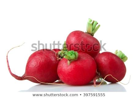 свежие красный редис зеленый деревенский Сток-фото © klsbear