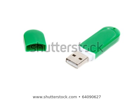 USB memory in green body with open lid Stock photo © RuslanOmega