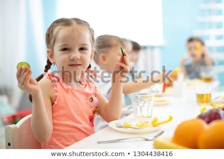 toddler eating potatoes Stock photo © gewoldi