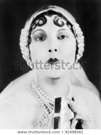 Fej vállak portré vonzó fiatal nő vad Stock fotó © dacasdo