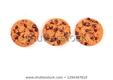 boglya · csokoládé · chip · sütik · izolált · fehér - stock fotó © marylooo
