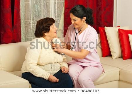 doktor · hasta · stetoskop · kadın · çocuklar · sağlık - stok fotoğraf © Paha_L