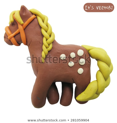 Modelling a clay horse Stock photo © veralub