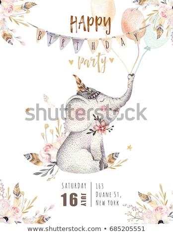 çocukça · kart · oyuncaklar · doğum · günü · arka · plan · erkek - stok fotoğraf © balasoiu