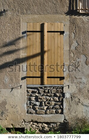window shutter sealed with planks Stock photo © sirylok