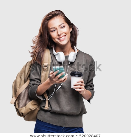 Cupped hands of young woman - isolaed on white background stock photo © brozova