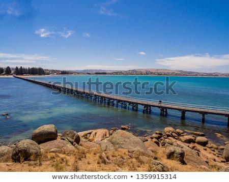 Gránit sziget Dél-Ausztrália kilátás víz égbolt Stock fotó © THP