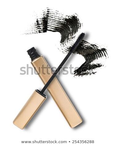 tubo · pennello · mascara · bianco · donna · faccia - foto d'archivio © wavebreak_media