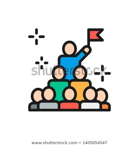 hatékony · vezető · vezetőség · üzlet · sakk · stratégia - stock fotó © marinini