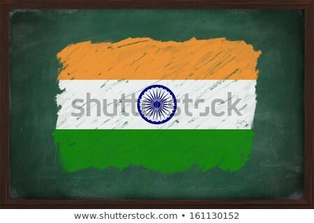 bayrak · Hindistan · tahta · boyalı · tebeşir · renk - stok fotoğraf © vepar5