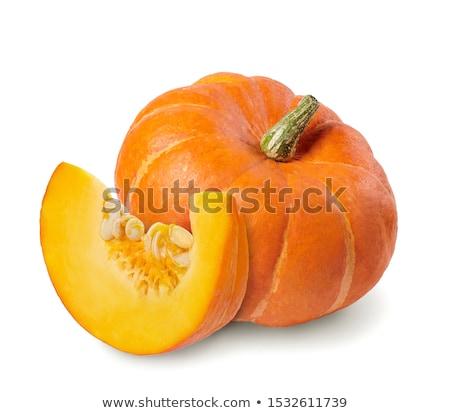 Cut of pumpkin isolated on white Stock photo © ozaiachin