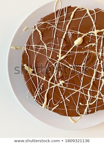 Stock photo: Chocolate cheesecake