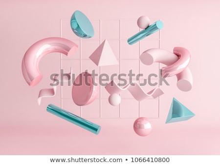 3D Pyramid - Pink Stock photo © cteconsulting