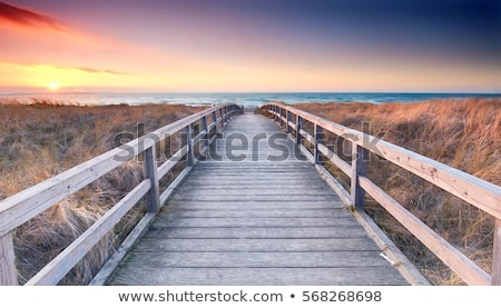 Stock photo: Wooden walkway on beach