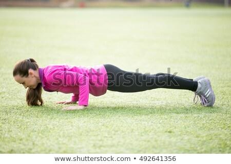 Flexiones parque deporte cuerpo Foto stock © d13