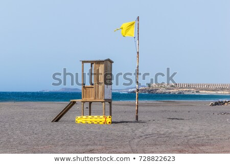 Wooden Canary islands flag. Stock photo © asturianu