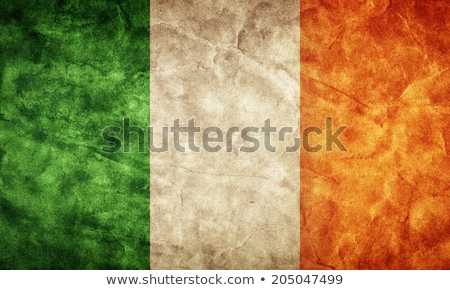 Ireland flag on Crumpled paper texture Stock photo © stevanovicigor