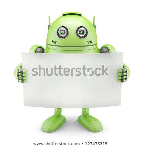 Android robot with blank board Stock photo © Kirill_M