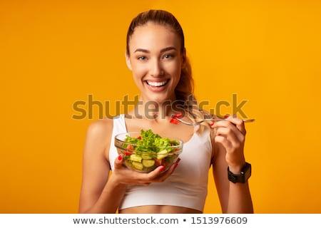 Encajar esbelto retrato jóvenes rubio mujer Foto stock © lithian