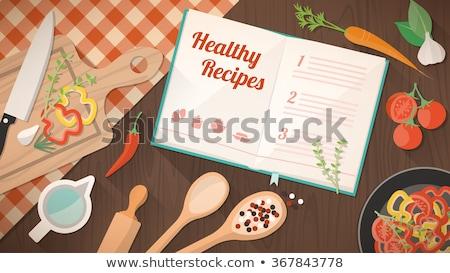 learn to cook book concept stock photo © maxmitzu