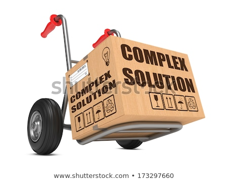 Complexe solution main camion slogan Photo stock © tashatuvango