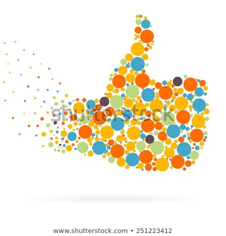 Thumb Up Icon on Triangle Background. Stock photo © tashatuvango