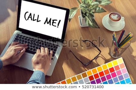 Foto stock: Asiático · mulher · de · negócios · telefone · gesto