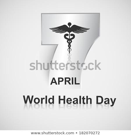 Belo texto mundo saúde dia criador Foto stock © bharat