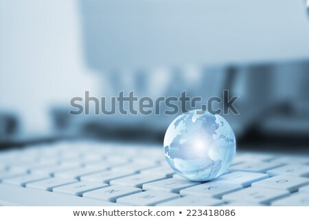 transparent globe on a keyboard stock photo © almir1968