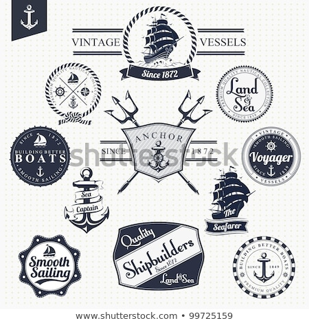klasszikus · tengerészeti · szett · választék · illusztrációk · dekoratív - stock fotó © hauvi