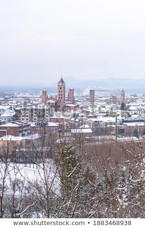 Piccola città medievale torre Italia piccolo italiana Foto d'archivio © rglinsky77