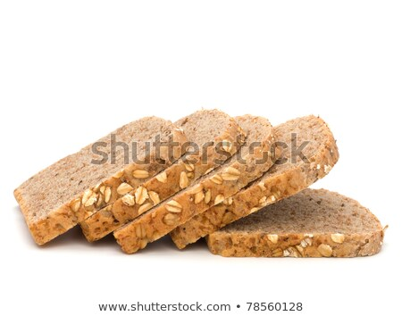 Healthy bran bread slices with rolled oats Stock photo © natika