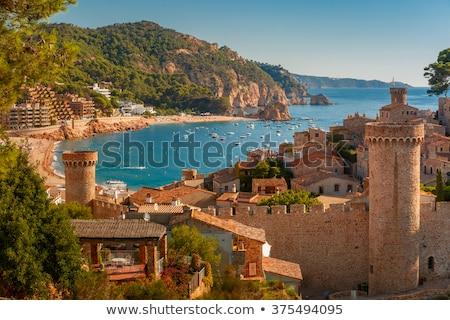 vila vella fortress in tossa de mar spain stock photo © nejron