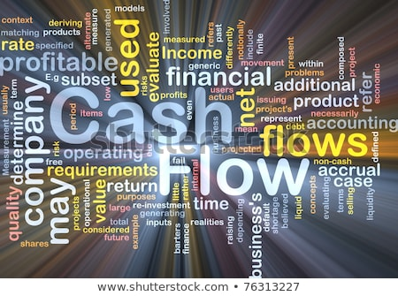 illustration of the word Cash flow in wordclouds Stock photo © Istanbul2009