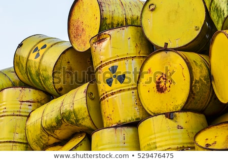 核 廃棄物 3D 生成された 画像 ドラム ストックフォト © flipfine