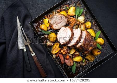Kalfsvlees Rood eten biefstuk lam pot Stockfoto © LianeM