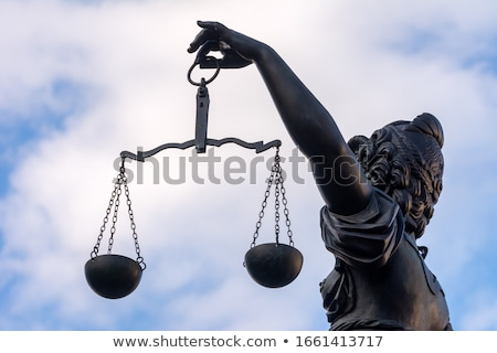 Justitia Lady Justice Sculpture On The Roemerberg Square In Fr Zdjęcia stock © manfredxy