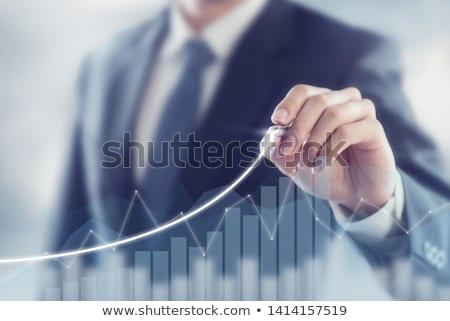 収入 · 成長 · 3D · 生成された · 画像 · ビジネス - ストックフォト © flipfine