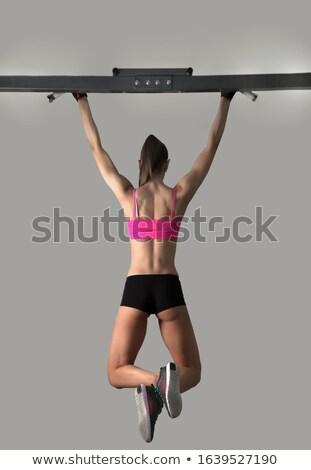 Lábujjak bár nő rácsok edzés tornaterem Stock fotó © lunamarina